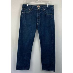 Levis 501 Jeans Button Fly Straight Leg